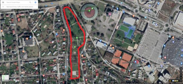 Bežecká dráha -park Ľ.Štúra