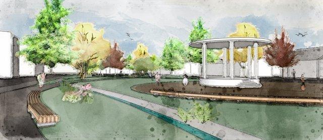 Odkrytie koryta potoka Všivák a revi- talizácia Sadu SNP v Žiline